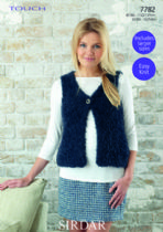 Sirdar Touch - 7782 Gilet Knitting Pattern